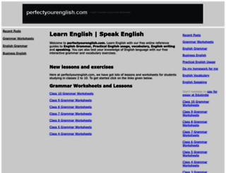perfectyourenglish.com screenshot