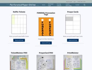 perforatedpaperonline.com screenshot
