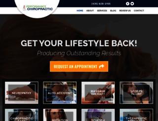 performance-chiropractic.com screenshot