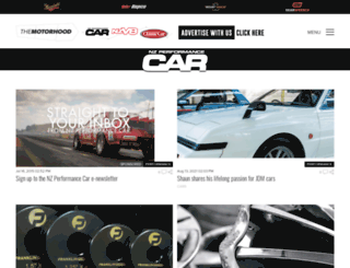 performancecar.co.nz screenshot