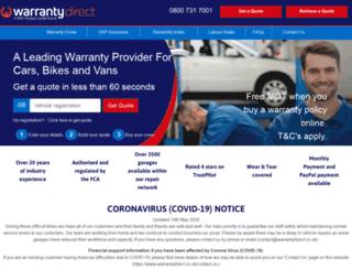 performancedirect.warrantydirect.co.uk screenshot