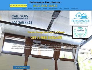 performancedoorservice.com screenshot