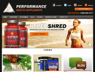 performancehealthsupplements.com screenshot