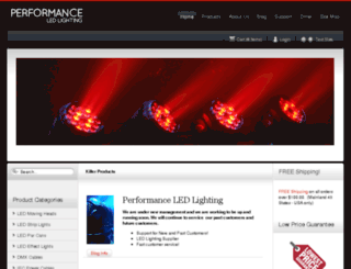 performanceledlighting.com screenshot