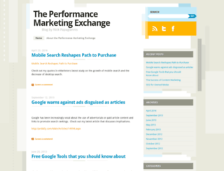 performancemarketingexchange.wordpress.com screenshot