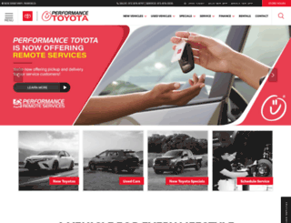 performancetoyotastore.com screenshot