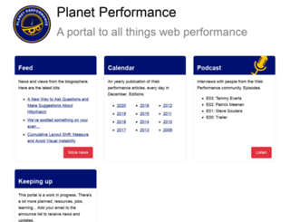 perfplanet.com screenshot