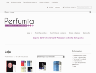 perfumariabaixocusto.pt screenshot