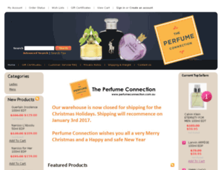 perfumeconnection.com.au screenshot