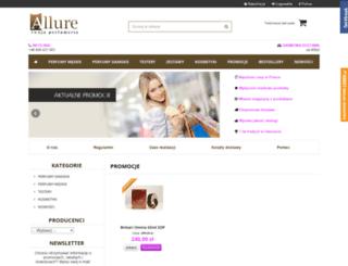 perfumeria-allure.pl screenshot