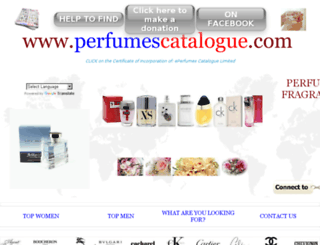 perfumescatalogue.com screenshot