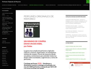 perfumesoriginalesdemayoreo.com screenshot