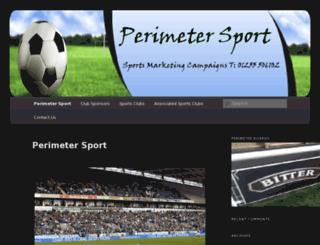 perimetersport.co.uk screenshot
