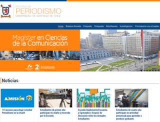 periodismo.udesantiago.cl screenshot
