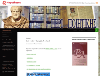 peripoietikes.hypotheses.org screenshot