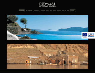 perivolassuites.gr screenshot