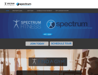 perkins.spectrumfitness.com screenshot
