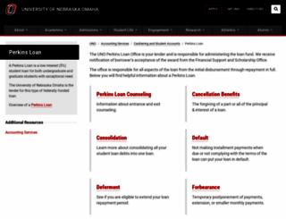 perkins.unomaha.edu screenshot