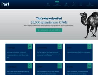 perl.org screenshot
