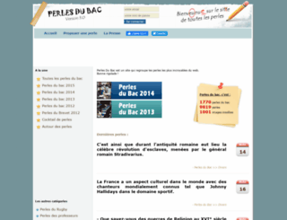 perlesdubac.fr screenshot