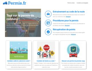 permis.fr screenshot