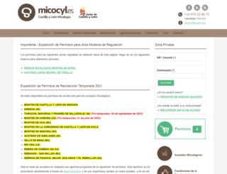 permisos.micocyl.es screenshot