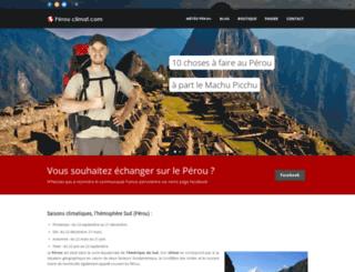 perou-climat.com screenshot