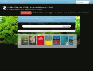 perpustakaan.stikesmuhkudus.ac.id screenshot