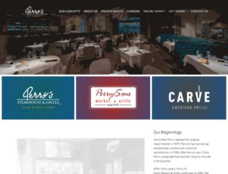 perrysrestaurants.com screenshot