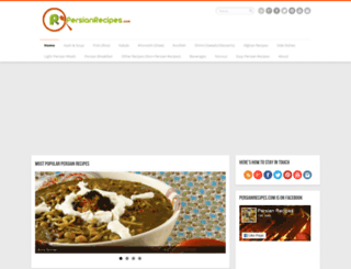 persian-recipes.com screenshot