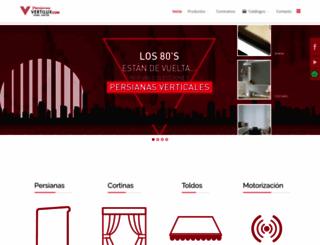 persianasvertilux.com.mx screenshot