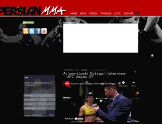 persianmma.com screenshot