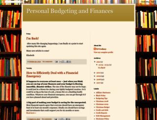 personal-budgeting.blogspot.com screenshot