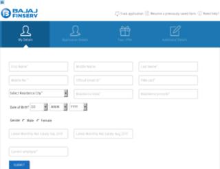 personal-loans-india.bajajfinserv.in screenshot