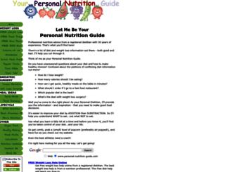 personal-nutrition-guide.com screenshot