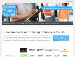 personal-training-courses.net screenshot