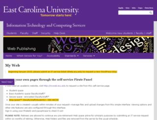 personal.ecu.edu screenshot