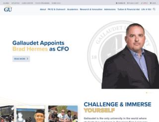 personal.gallaudet.edu screenshot
