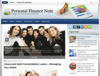 personalfinancenote.com screenshot