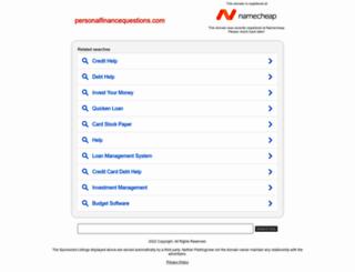 personalfinancequestions.com screenshot