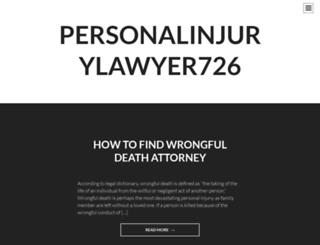 personalinjurylawyer726.wordpress.com screenshot