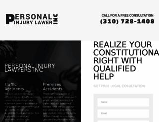 personalinjurylawyerinc.com screenshot