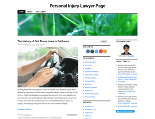 personalinjurylawyerpage.wordpress.com screenshot