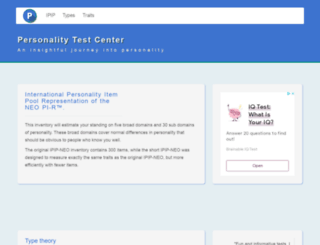 personalitytest.net screenshot