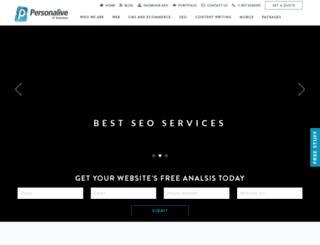 personaliveservices.com screenshot