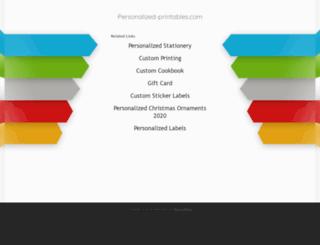 personalized-printables.com screenshot