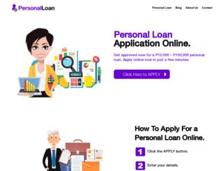 personalloan.com.ph screenshot