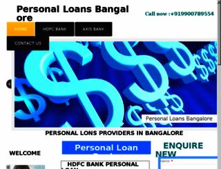 personalloansbangalore.com screenshot