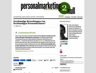 personalmarketing2null.wordpress.com screenshot