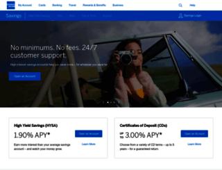personalsavings.americanexpress.com screenshot